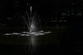 I was playing with my camera - and like how the sun enlightens the fountain