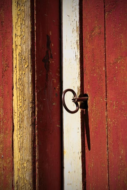 The door to the barn